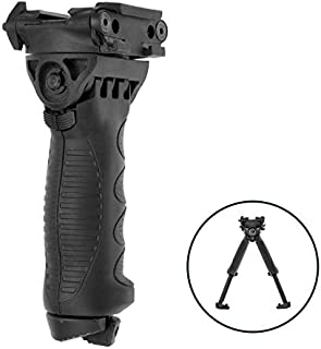 A.S.M.D Sports Heavy Duty Quick Retractable Detachable Front Vertical Solutions Bipod System Fit 20mm Picat RaiI