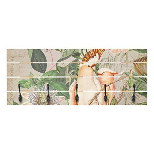 Bilderwelten Perchero de Madera - Colonial Style Collage -...