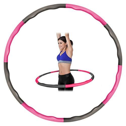 Kabalo Weighted Pieghevole Allenamento Fitness Hula Hoop (Rosa/Grigio)