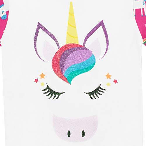 Harry Bear Pijamas de Manga Larga para niñas Unicornio Ajuste Ceñido Multicolor 6-7 Años
