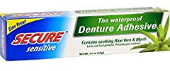 A NEW SECURE FEELING - Best for new denture wearers and those with sensitive gums, the only zinc-free, waterproof denture adhesive that promises up to 12 hours of holding power. Discover a completely new and natural denture feeling. No more slipping,...