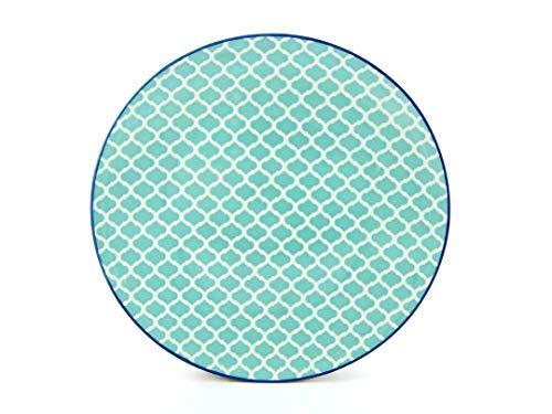 Creatable 21171, Méditerrané Pétrole, Assiette Plate 27cm Lot de 4