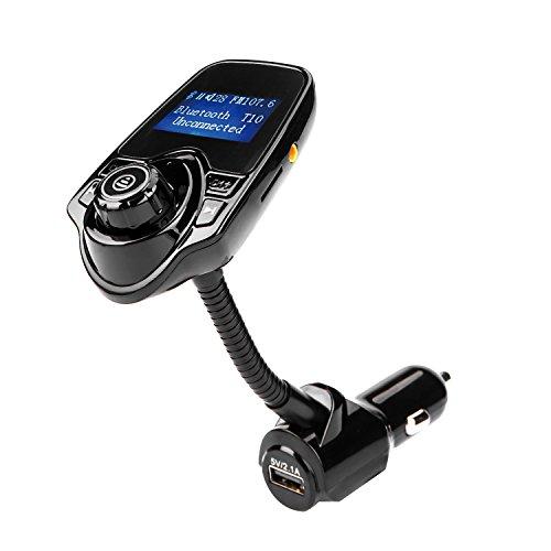 Kabelloser Bluetooth FM Radio Adapter, ieGeek Bluetooth FM Transmitter für Auto, Unterstützung TF/SD-Karte, USB-Ladegerät für Smartphone, U-Disk & AUX-Eingang/Ausgang.