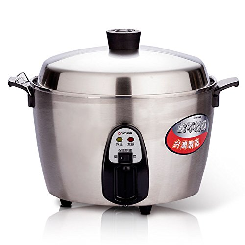 TATUNG 10-CUP All Stainless Steel Rice Cooker Indirect Heating 10~11 PERSON (110V) US Plugs