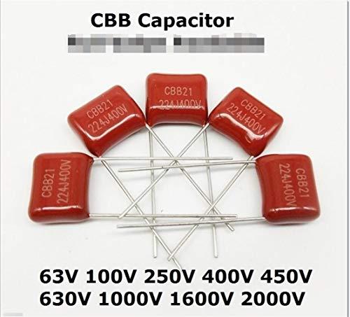 WSF-Kondensatoren, 10pcs Metallized Polypropylene Film Capacitor 2KV 102 104 223 473 CBB 1NF 22nF 47nF 0.1UF 2000V 104J / 102J / 223J / 473J 2KV (Größe : 2000V 473J 20MM)