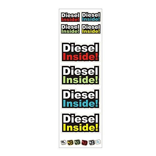 JOllify Diesel Inside stickerset motorfiets auto sticker sticker