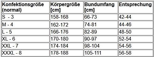Stanteks Radhose 3/4 Fahrradhose Radlerhose mit Sitzpolster Coolmax SR0060, Schwarz/Grau, XXL (entspricht ca. Gr. 56/58) - 3