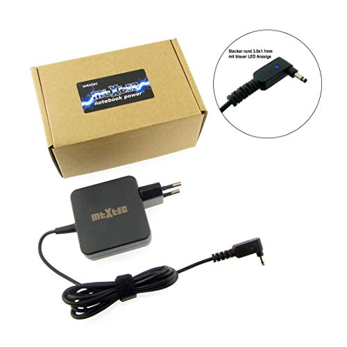 MTXtec Netzteil, 19V, 2.37A, Stecker rund 3.0x1.1mm (45W - EU) hochwertiger Ersatz für Asus Zenbook UX21 UX21E UX31E Asus Transformer Book T200TA T200T, ADP-45AW und baugleiche