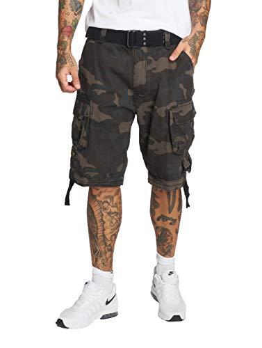 Brandit Uomo Savage Vintage Pantaloncini - darkcamo, L