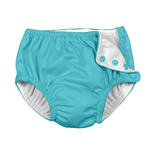 i play. by green sprouts Baby Snap Reusable Swim Diaper, Aqua, 24mo