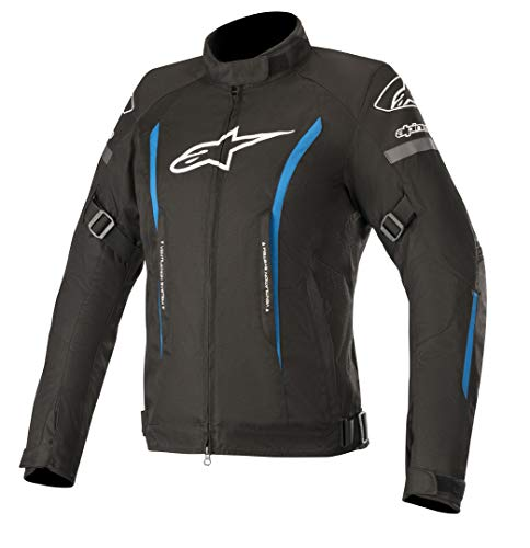 Alpinestars Blouson moto Stella Gunner V2 Wp Jacket Black Bright Blue, Noir/Bleu, L