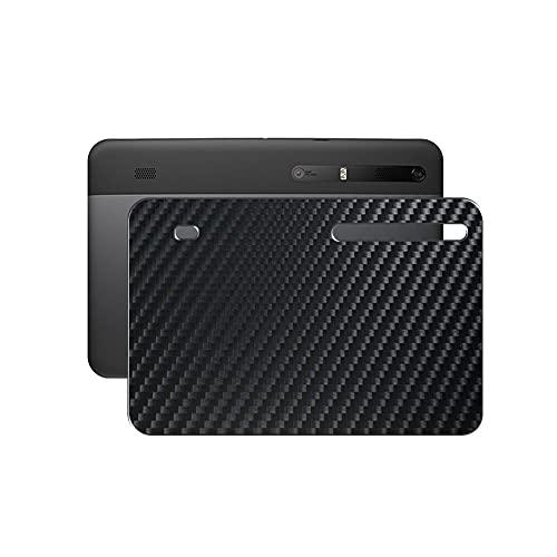VacFun 2 Piezas Protector de pantalla Posterior, compatible con MOTOROLA XOOM Wi-Fi TBi11M au 10.1', Película de Trasera de Fibra de carbono negra Skin Piel