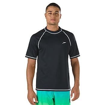 Speedo Men s Uv Swim Shirt Short Sleeve Loose Fit Easy Tee - Manufacturer Discontinued Speedo Black 3X-Large