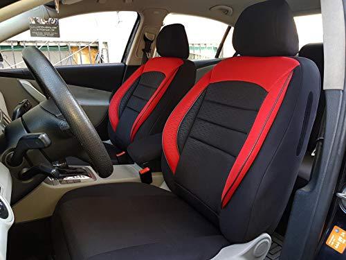 Sitzbezüge K-Maniac für Mercedes A-Klasse W168 | Universal schwarz-rot | Autositzbezüge Set Komplett | Autozubehör Innenraum | NO2525242 | Kfz Tuning | Sitzbezug | Sitzschoner