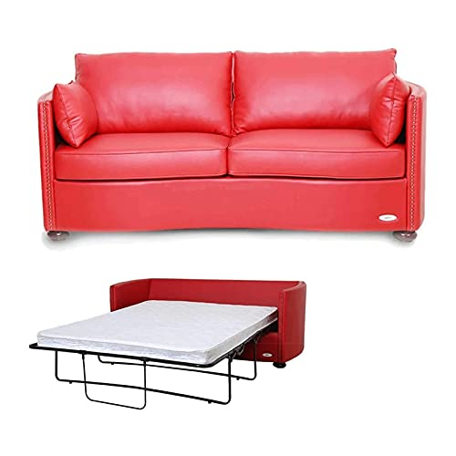 Tolalo 2 en 1 sofá Compacto sofá Cama Smoker Shaker Estilo Solo dabo-Pull-Pull sofá Cama protección Perezoso para Sala de Estar o Dormitorio, Rojo