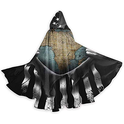 Zome Lag Wizard Cape, Adult Hooded Cloak,Role Play Dress Up,Men Womens Length Cloaks,African Map Funny Pull Apart Zuid-Afrika Halloween Hooded Cloaks,Party Cosplay Costume,Cloak Cape