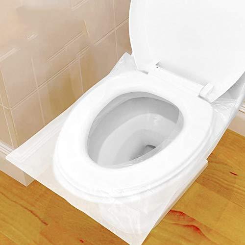FANDE Toilette Auflage, 100 Stück Toiletten Sitzbezug Reise wasserdichte Toilet Seat Cover WC Sitzschutz Sitzauflagen Kunststoff Klo Auflage für Zuhause Hotel Reisen