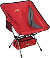 Trekology YIZI GO Portable Camping Chair - Compact Ultralight Folding Backpacking Chairs in a Carry Bag, Heavy Duty 300...