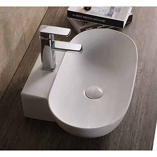 Art-of-Baan® Aufsatzwaschbecken Waschbecken Hochglanz Wandmontage kleines Bad weiß, 555 * 395 * 120 mm mit Lotus Effekt (K-177)