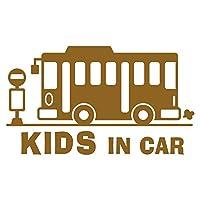 imoninn KIDS in car ステッカー 【シンプル版】 No.61 バス (ゴールドメタリック)