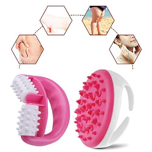 Massage, Anti Cellulite, Cellulite Massage Gerät, Anti Cellulite Roller, Massagebürste Für straffe Haut, Massage, Wellness und Beauty (Pink)