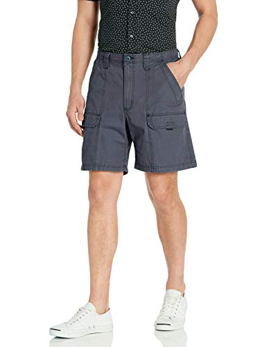 Wrangler Authentics Men's Canvas Utility Hiker Short, Newport Navy, 34