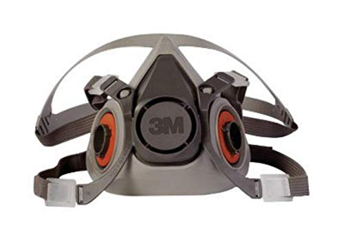 3M Large Thermoplastic Elastomer Half Mask 6000 Series Reusable Standard Respirator With 4 Point Harness And Bayonet Connection