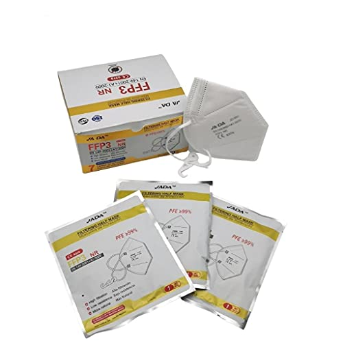 Jada 20 Mascarillas Autofiltrante Fpp3 Homologada. Pfe≥ 99%  Catalogada Epi   Alto Nivel de Protección con 6 Capas de Filtración   Sellado Individualmente 250 g