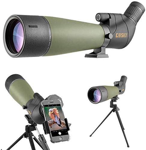 Gosky 20-60X80フィールドスコープ 望遠鏡 たんがんきょう 高倍率 スマホ 望遠レンズ スポッティングスコープ バードウォッチング 単眼望遠鏡 アーチェリー 野鳥観察 星空観察 星雲