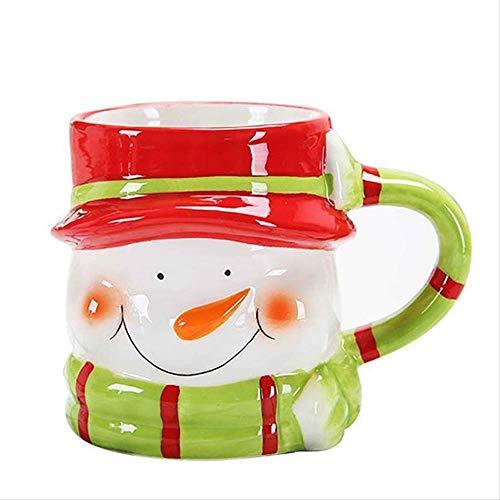 FHFF Koffie Beker Groen + Koffie Vaartuig Kerstmis Cartoons Keramische Bekers Melk Koffie Bekers Water Bekers