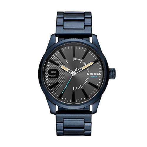 Diesel Herren Analog Quarz Uhr mit Edelstahl Armband DZ1872