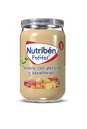 Nutribén Potitos de Ternera con Patatas y Zanahoria, Desde Los 6 Meses, 235g