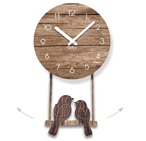 Dekori - Reloj De Pared Moderno De Madera con Péndulo. Preciso Y Silencioso, Apto para Todas Las Estancias De La Casa: Cocina Salón Comedor. Producto Original Dekori, Fabricado En Italia. (WOT)