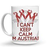 Makoroni - I CANT KEEP CALM I'M AUSTRIAN 6 oz Ceramic Espresso Shot Mug/Cup Design#88