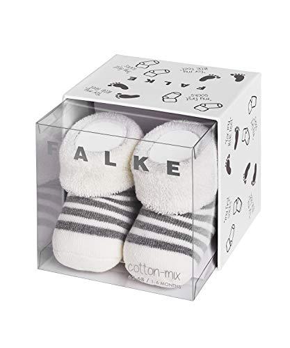 FALKE Unisex Baby Erstlingsringel B SO Socken, Blickdicht, Weiß (Off-White 2041), 1-6 Monate (62-68cm)