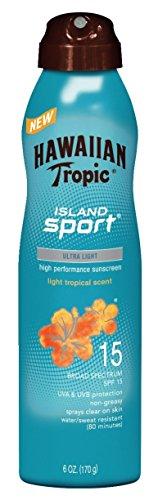 Hawaiian Tropic Island Sport Sunscreen Spray, Easy to Apply, Broad-Spectrum Protection, SPF 15, 6 Ounces