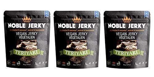 Noble Jerky - Teriyaki Vegan Jerky - 3 x 2.47 oz