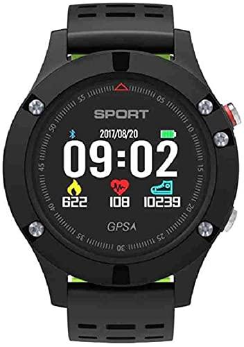 JZDH Mano Reloj Reloj de Pulsera Reloj SmartWatch GPS Impermeable GPS Reloj Bluetooth Detección de Ritmo cardíaco Reloj Masculino Relojes Decorativos Casuales (Color : Gray)