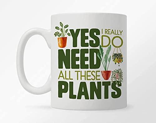 DJNGN Taza de café de cerámica, taza de planta, taza de amante de plantas de interior, taza de dama de planta, regalo de jardinero, regalo de pulgar verde, regalo de propietario de vivero de plantas,