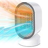 Uvistare Calefactor Eléctrico de Aire Personal,Calentador Portátil PTC Elemento de Cerámica con Viento Calor y Natural para Hogar y Oficina Protección del Sobrecalentamiento Bajo Consumo Silencioso