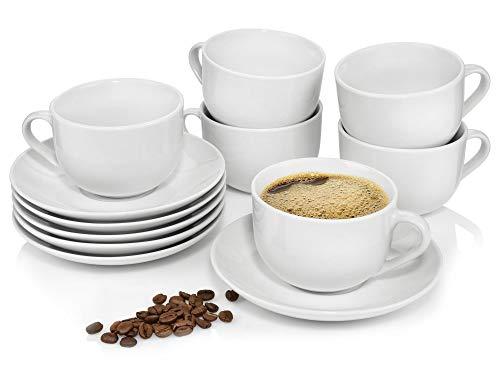 Sänger Kaffeetassen Set New Port aus Porzellan 6er Set | Füllmenge 200 ml | Perfekt aufeinander abgestimmtes Porzellan Set bestehend aus 6 Tassen und Untertassen