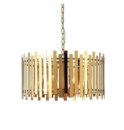 Kenroy Home - Lámpara de techo (4 luces, acabado dorado mate brillante)