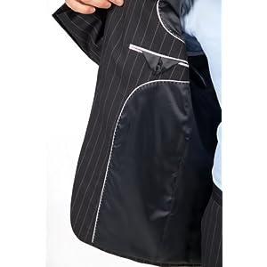 Mondo Uomo Blue Stripe Suit (Coat 44 L (Long) / Pants Waist 38)