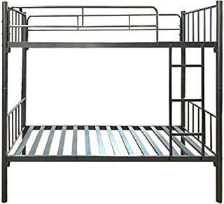 Steel Bunk Bed with Detachable Option (190x90 cm) Grey [Without Mattress]