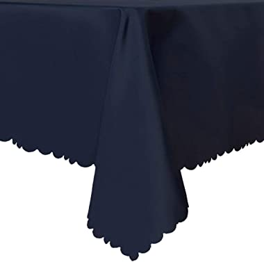 LUSHVIDA Rectangle Table Cloth – Washable Water Resistance Microfiber Tablecloth Decorative Table Cover for Banquet Party Kit