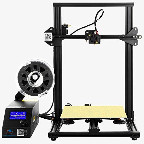 HZYYZH Imprimante 3D DIY (300Mm * 300 * 400Mm), imprimante Grand Format, Haute précision et Installation Facile, imprimante personnelle Portable,Black