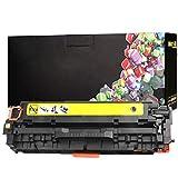 RRWW CF380A Cartucho de Tóner de Repuesto para HP Laserjet Pro MFP M476dw M476nw,Amarillo,Paquete de 1-Yellow