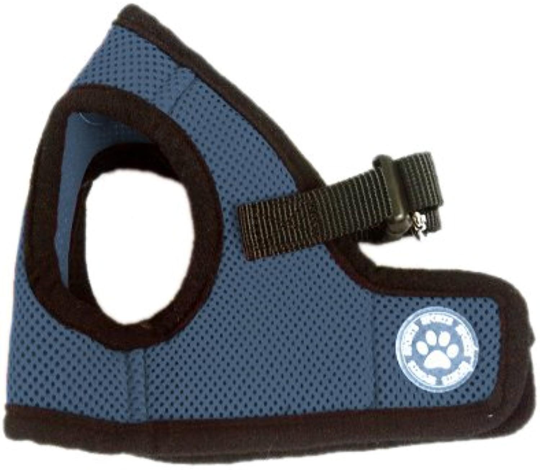 BINGPET BB5005 Classic Soft Vest Dog Puppy Pet Harness Adjustable Medium Navy bluee