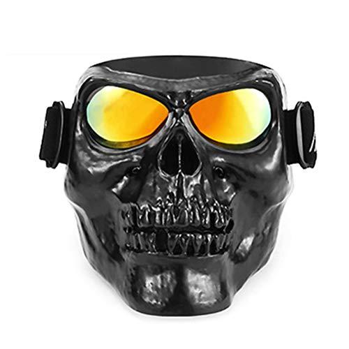 Sarplle Motorrad Maske Brille Motocross Winddicht Helm Schädel Goggle Gesichtsmaske für Motocross, Skifahren, Reiten Sicherheit Schutz, Halloween Dekoration