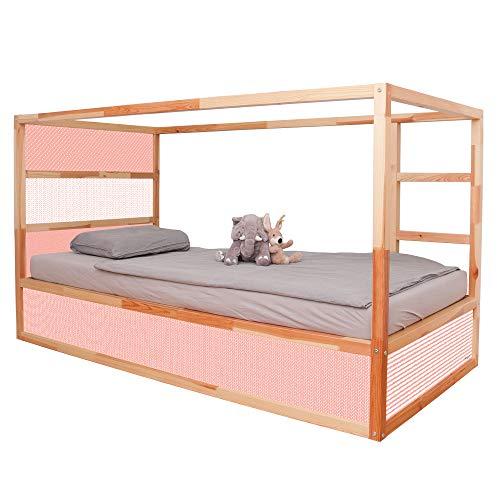 Limmaland Skandinavisch gemusterte Möbelaufkleber (Rosa) - passend für das IKEA KURA Hochbett - Möbel Nicht inklusive